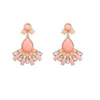 Cheap Brand Fashion gem crystal drop earrings for women luxury cute jewelry statement earrings new design jewelry wholesale