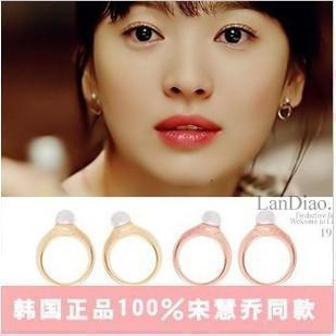 E48 Earring stud earring earrings song of winter female anti-allergic pearl ring flat(China (Mainland))
