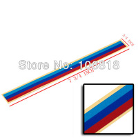 Set of 3 Colors Navy Red Light Blue Grille Stick On Decorative Vinyl Strip Sticker Decal Sport Racing Moto Sedan 1 3 5 6 Series
