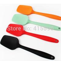 USA Silicone Spoon Scraper Heat Resistant Spatula Single One Random Color+ Free Shipping