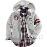 4- 12 yrs brand children hoody 100% cotton zipper-up sweatshirt boys outerwear spring autumn children's clothing kids sportswear