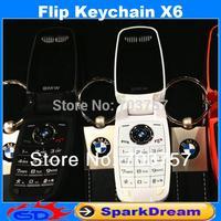 Mini Keychain X6 Phone With Bluetooth MP3 1.44 inch Screen Single Sim Card Women Cute Lady Cell Phone
