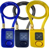 Y787 Cable Lock Durable Steel Coil password alarm Security Lock/Glass Door/Bicycle/burglar alarm lock/Combination lock