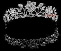 The bride hair accessory wedding accessory silver big rhinestone set accessories the wedding crown