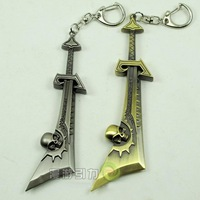 1PC Quality The Fallen Ashbringer Keyring Double-sided Carved Keychain Holder WOW Hobby Gifts Keyring Key Chains