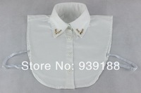 Female shirt false collar lace rhinestone pearl shirt white black vintage collar MMD