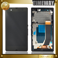 100% Warranty 1pcs 100% new  for sony xperia z l36h lcd display touch screen digitizer assembly with frame Spare Parts