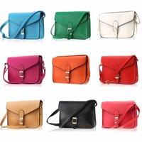 Candy Color PU Leather Cross body Satchel Shoulder Messenger Bag Tote Handbag