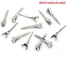 caliente 50 tono de plata pasador de pelo Clips Hallazgos 45x10mm ( B10856 )(China (Mainland))