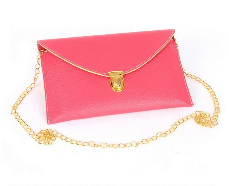 2014 New Women Day Clutches shoulder bag Messenger bags envelope Wallets Chain handle Purse(China (Mainland))