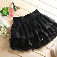 Hot-selling basic bust skirt lace yarn tulle  layered skirt puff short skirt 205