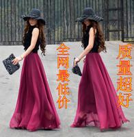 New 2014 8 meters expansion bottom female bust skirt fashion full mopping the floor summer crop top and skirt full skirt