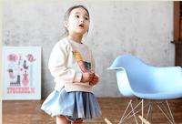 Infant sweater baseball uniform children's child clothing long-sleeve girl white outerwear