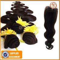 Brazilian Hair 4pcs Body Wave Hair Bundles And Lace Closure Swiss Lace4*4 Cheap Human Hair Free Shipping Unprocessed Remy Hair