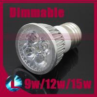 10pcs Dimmable 9w 12w 15w E27 CREE LED Spotlight Bulb High Power Cool  Warm White Light Support Dimmer 220V Modern Lamp