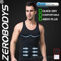 Fast Shipping ZEROBODYS Comfortable Mens Body Shaper COOLMAX Active Abdo Plus Vest 377 BK Slimming Abdomen for Men Quick Dry Men
