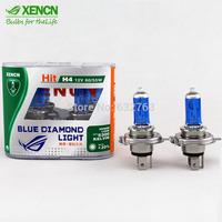 New XENCN H4 12V 60/55W 5300K Blue Diamond Car Light Halogen Xenon Ultimate White Headlights OEM Hight Low Beams Long Lifetime