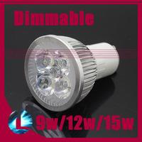 10pcs Dimmable GU10 9w 12w 15w Modern Lamp High Power CREE LED Spotlight Bulb 110V 220V cool/ warm white light Support Dimmer