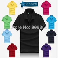 POLO shirt customized Men Blank nightwear processing Lapel short-sleeved cotton mesh plus size free shipping