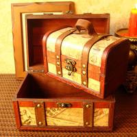 New arrive,Vintage style handmade wood box big and small set organizer box/jewerly box 2pcs set bread box wholesale