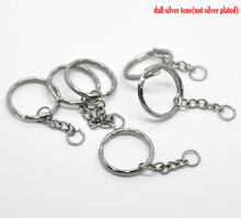 "De 30PCs Silver Tone Key Chains & Key Rings 53mm ( 2 1/8 "" ) de largo ( B19405 ) , Yiwu(China (Mainland))"