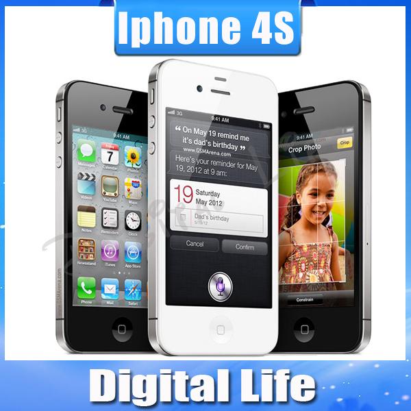 iPhone4s 100% Factory Unlocked Original Apple iPhone 4S IOS 8 GPS WIFI 16GB/32GB storage 3.5 Screen Dual Core mobile Phone(China (Mainland))