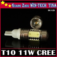 Free shipping 1pcs/lot  T10 11w High Power bulb led wedge bulb 194 168 192 W5W lamp for car reverse light