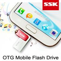 Brand SSK SFD239 Mobile OTG USB Flash Drive 32GB micro USB Flash For Samsung HTC LG Sharp Lenovo Android Smart Phone Pad Tablet