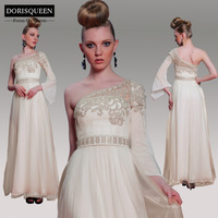 DORISQUEEN  ready to wear new arrival a line floor length one shoulder party evening dress 30988