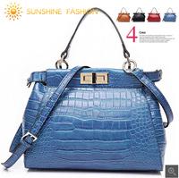 Bolsas Femininas 2014 Fashion Cross Body Shoulder bag Crocodile Pattern Genuine Leather Women Handbag Desigual messenger Bags