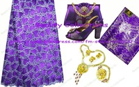 Lace fabric,shoes and bags,jewelry sets,perfect matchings with free shhipping--LSJ262