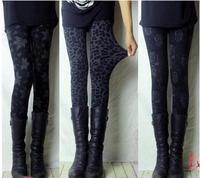body 2014 winter female women leopard print  fitness warm legging plus size high waist elastic adventure time leggins legging