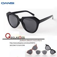 Vintage retro sunglasses women coating Metal thin legs small round frame sun glasses 2014 new fashion oculos de sol QanSi2131