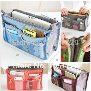 Cosmetic Storage Pouch Purse Large Liner Tidy Travel multi functional bag organizer handbag Mix Color Make Up Bags Wholesale(China (Mainland))