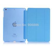 High quality folio type leather smart cover case for ipad mini 2 retina and ipad mini free shipping