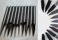 10pcs 3.175*30degree*0.8 cnc router conical flat bits for relief and sculpture engraving FREE Shipping