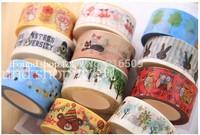 1lot=11pcs New fashion PVC masking cartoon DIY tape/cute adhesive tape / DIY sticker label/wholesale price