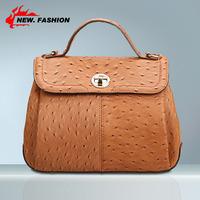 New 2014 Fashion Vintage Elegant Ostrich Dot Women Handbag Tote Genuine Leather Bag Messenger Bags Lock Free shipping NO1030
