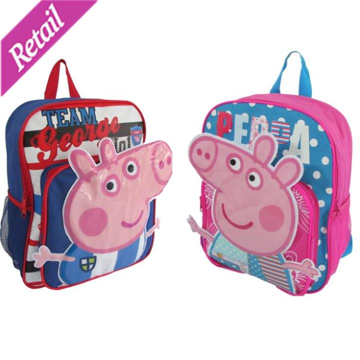 1 pcs! Peppa pig Backpack children school bags, for girls boys children cartoon bag mochila infantil mochila peppa pig bolsas(China (Mainland))