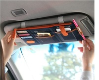 Wholesale Free shipping Multi-function automotive sunvisor storage package,car hanging bags