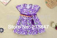 Kid's Dresses Fashion Cute Print Little Girls Dress Summer Baby Girl Dress Girl Retail Infant Dress Baby Clothing
