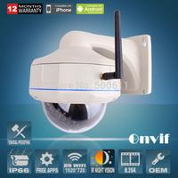 CMOS Sensor 25fps 30 IR Outdoor Waterproof Vandal-proof Dome Onvif  H.264 1.0 Megapixel 720P Network Wireless WIFI IP Camera