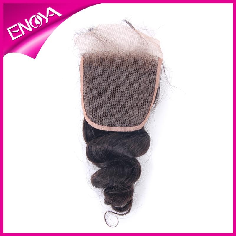 """Loose Wave 4""""*3.5"""" Malaysian Hair Weave Closure Free Part closure(China (Mainland))"""