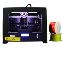 Free Shipping Dual Extruder 3d Printer Creator X Works with ABS Metal Frame Flashforge metal diy 3D printer
