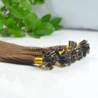 "Remy A Stick Tip 100 Strands 20"" 0.5g/s 100% Human Hair Extensions #04 medium Brown&50g"