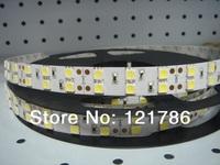 Free ship 5m 600LEDs 120LEDs/M 5050 SMD flexible LED strip non-waterproof 12V 60W flexible light white/warm white