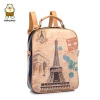 Backpack female one shoulder cross-body portable women's bag 2014 backpack bag  doodle bag