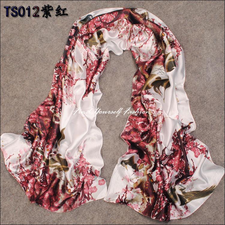 2014 mulheres quentes parágrafo longo lenço de seda verão outono e inverno feminina xale decorativo coreano aplicável SF100(China (Mainland))