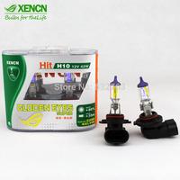 XENCN 9145 H10 12V 42W PY20D 2300K Gloden Yellow Light Strong Penetration Halogen Car Bulbs UV Filter Fog Lamp Free Shipping