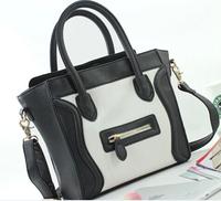 free shipping M size famous brand PU Leather classic woman handbag smiley bag sac a main smiling wings women shoulder bag